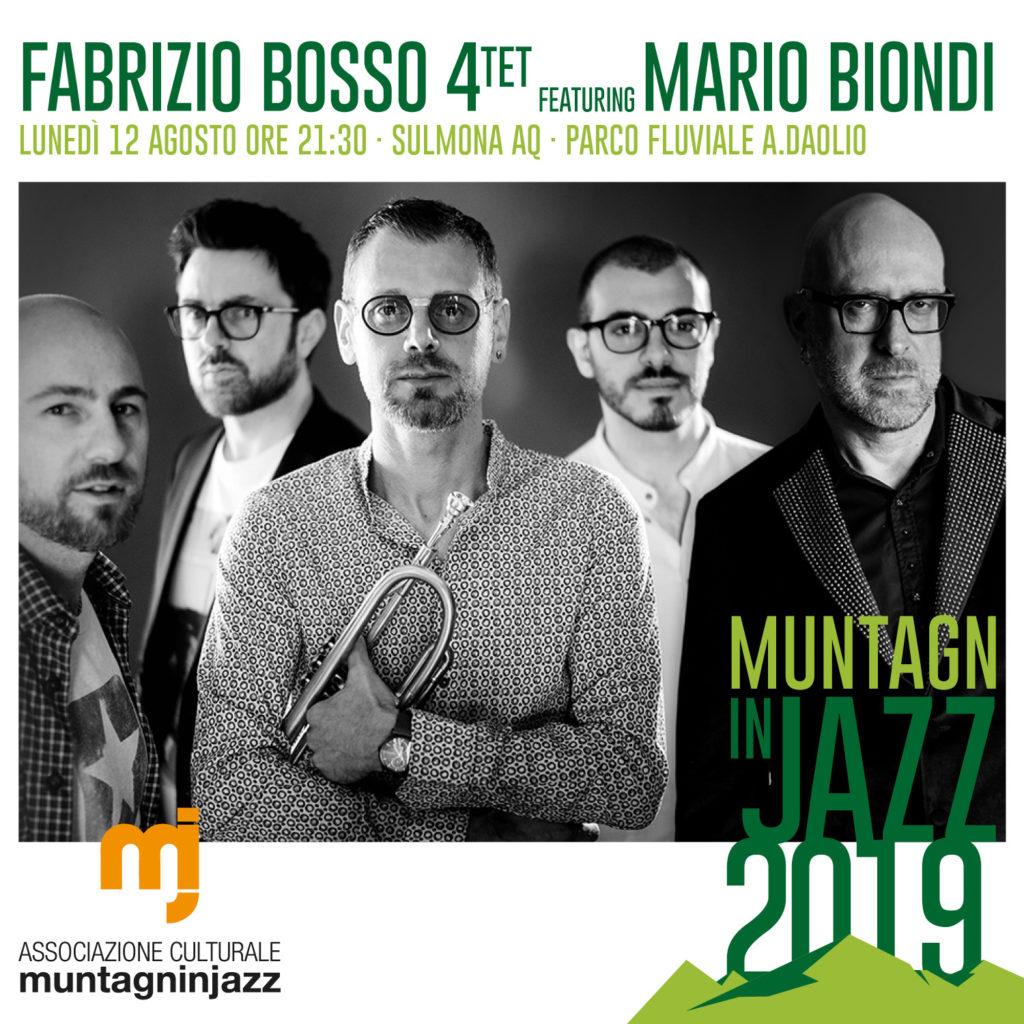 Fabrizio Bosso 4tet / Mario Biondi - 12 Agosto 2019 - Sulmona AQ